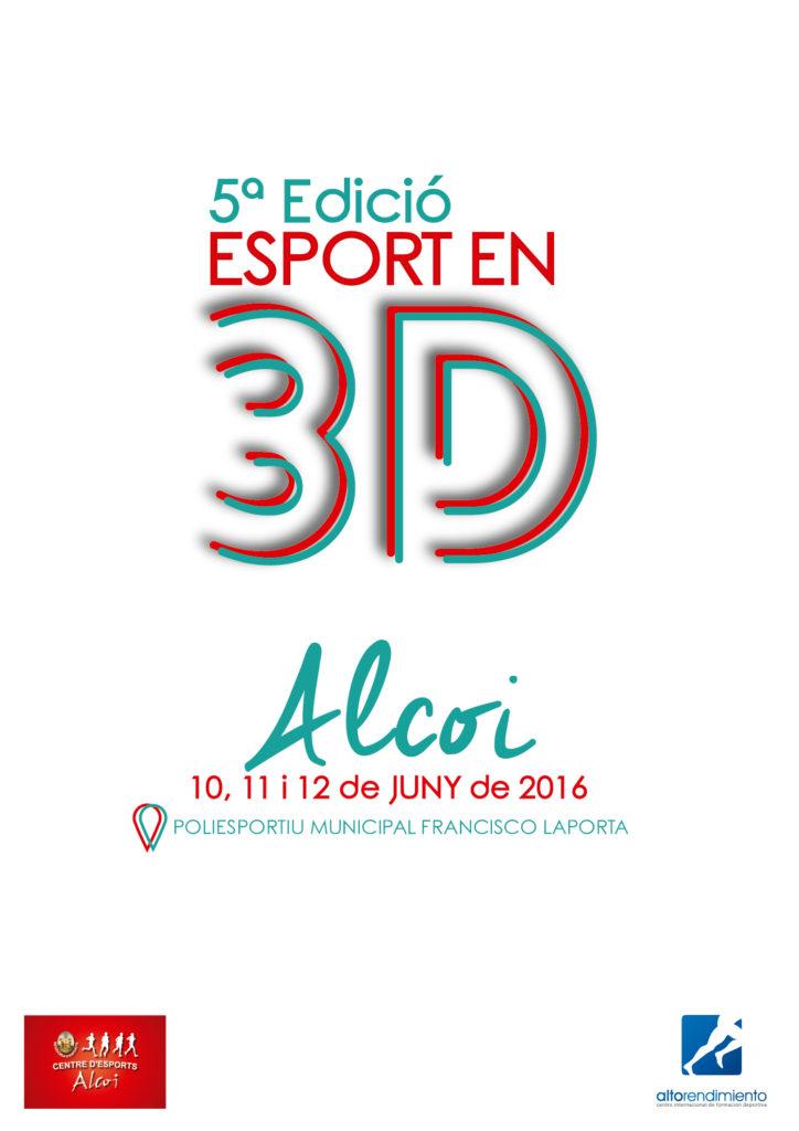Cartell Esport en 3D Alcoi 2016