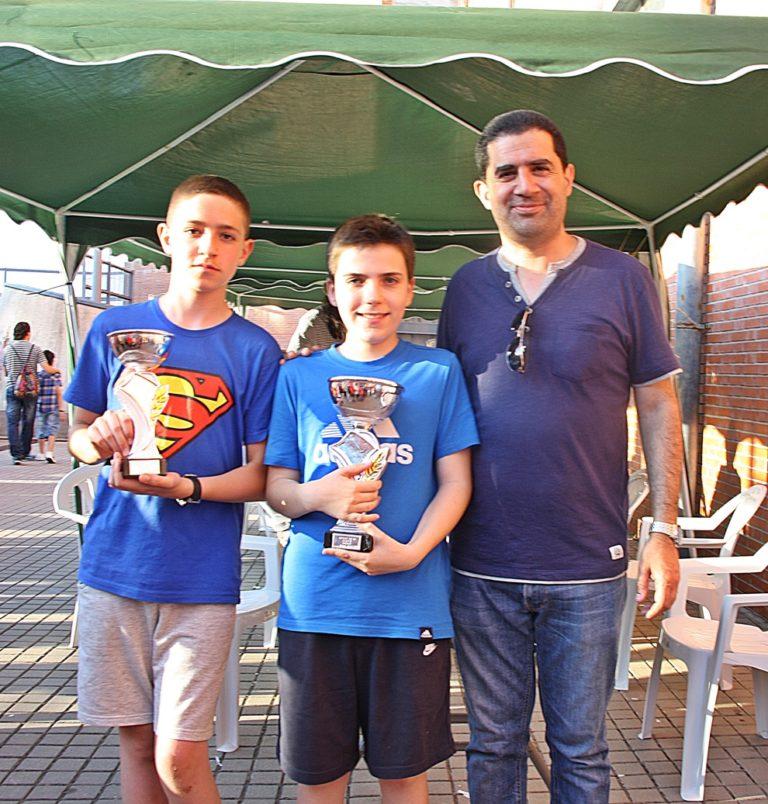 1º Mario Sanjuán (dcha) y 2º Emilio Barea (izq) – Categoría Alevín